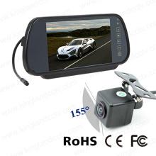 7inches Mobile Vision Mirror Monitor del sistema con cámara impermeable