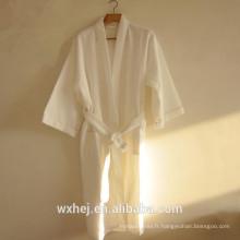 Vente en vrac 50% coton 50% polyester waffle kimono peignoir pour hommes et femmes