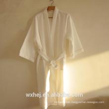 Bulk sale 50% cotton 50% polyester waffle kimono bathrobe for men and women