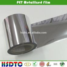 Filme PET Metalizado / Película Metalizada / Filme Metálico de Poliéster para Embalagem e Impressão