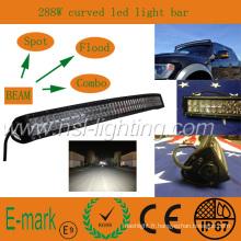 Haute qualité! ! ! Barre lumineuse à LED de 50 pouces, éclairage de voiture à LED 4 * 4 CREE, éclairage à LED incurvé 10-30V DC