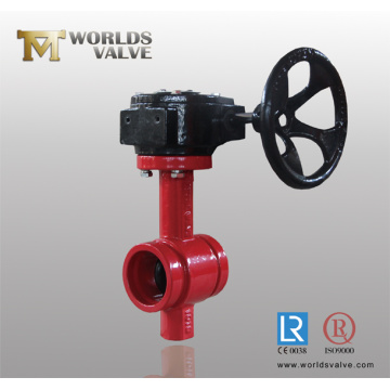 Grooved End Worm Gear Butterfly Valve with CE ISO Wras Certificates