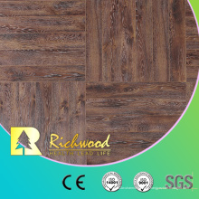 Piso laminado de madera laminado de la teca del roble blanco de 12.3mm E0 AC4