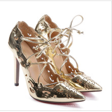 Custom  Sexy  Fashion  Women's  Hollow Pattern Sandals  High Heel Ladies  and Strappy  heels  Sandals  for Women and Ladies