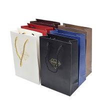 Kraft paper shopping bag manufacture reusable custom handle white paper bag