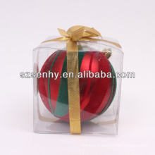 2014 vogue décoratif boules de noël en plastique ouvertes