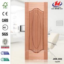 JHK-000 Great Sale Groove Modèle Allemagne Hôpital Certificat FSC Forme naturelle Sapele Veneer MDF Door Skin
