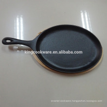 cast iron fry pan/fajita pan/skillet /cookware with pre-seasoned coating