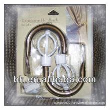 Decorative Brass Metal Curtain Hooks