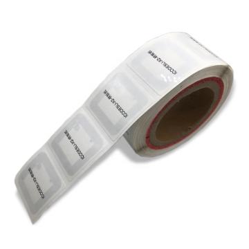 Autocollant / étiquette / étiquette de livre de bibliothèque RFID HF avec dos adhésif