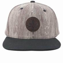 Tampão liso feito sob encomenda / chapéu do Snapback do painel da borda 6 da forma