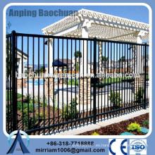 Baochuan fabuloso nueva valla de acero de moda / hierro forjado / cerca de aluminio