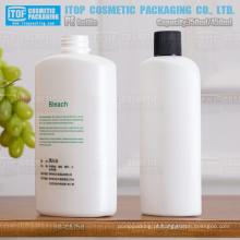 cosméticos de 750ml e 450ml, xampu, loção para o corpo, a garrafa de plástico de uso doméstico, industrial grande branco oval high-density do pe