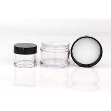 skin care PETG plastic face cream jars cosmetic packaging with black screw lid 5g 10g 20g 30g 50g