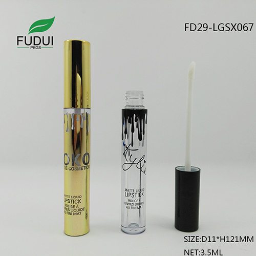 gold hot stanping lipgloss tube