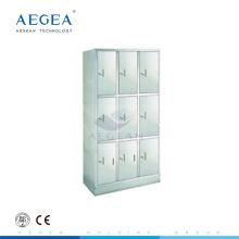 Armarios de acero inoxidable AG-SS001 en venta con nueve unidades para gabinete de acero