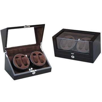 Wood Watch Winder Display 4 orologi