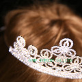 Подгонянная корона конструкции цветка Rhinestone тиары для венчания
