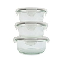 Set 3 Pyrex / Borosilicate Glass Food Storage Container for Microwave