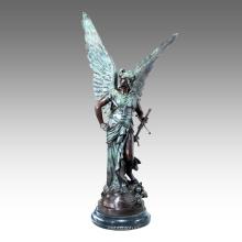 Gran Figura Estatua Mito Marte Bronce Escultura Tpls-032