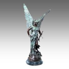 Large Figure Statue Myth Mars Bronze Sculpture Tpls-032
