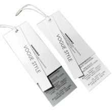 Factory High Quality Custom Clothing Tag Print Logo Garment Tags Hang Tags For Clothing