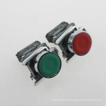 Pulsador de descarga eléctrica Lay4-Ba42 rojo 220V (serie XB2)