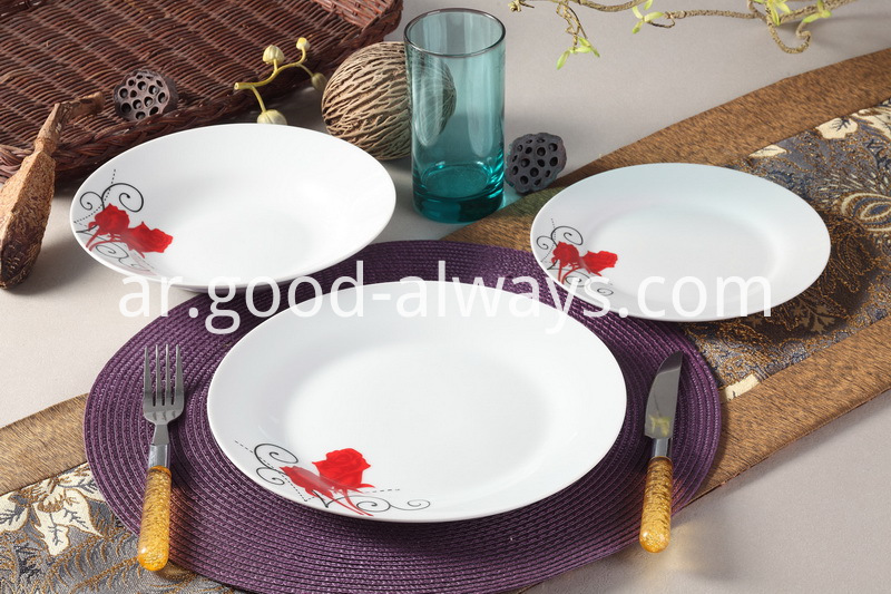 18 Piece Floral Porcelain Dinner Set