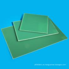 Hoja de vidrio epoxi verde claro G10 FR4 hoja