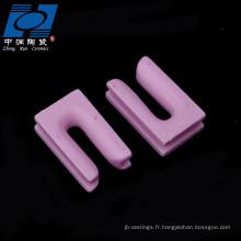 u type céramique textile rose