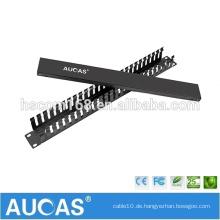 "AMP 24 PORT IDC Metallkabelmanagement / 1HE 19 ""ABS Kunststoff Kabelführung"