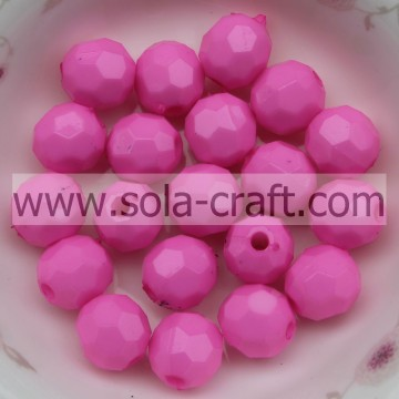 Mode ronde Spacers acrylaat parels 32 facetten voor sieraden decoratie 4MM Rose Agate bal kralen