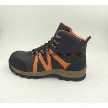 Sport Style Split cuir embossé Safety Shoes Chaussures d'extérieur (16053)