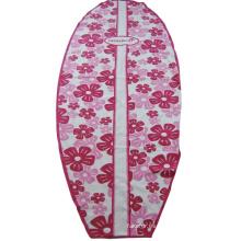 Toalla de playa impresa con forma de tabla de surf