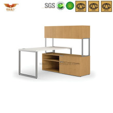 New Design Modular L Shaped Office Executive Desk with High Storage Cabinet (HYL316)