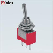 MTS-102-A2 6MM Single Pole 3Pin ON-ON PCB Interruptor de palanca estándar