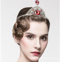 Beleza Rainha Diamond Pageant Crown 14k ouro branco Diamond Crown Tiaras