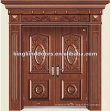 Heißen Kupfer-Design doppelten Eingang Tür KKDFB-8003