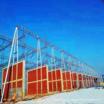 Архитектура подстанции из стальных труб на 500 кВ