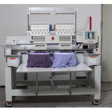 Wyonyo промышленная двухголовочная головная футболка комбинированная компьютеризированная вышивальная машина