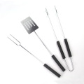 3pcs promotionnel chrome plaqué outils de barbecue ensemble