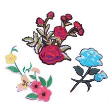 EXW Preis Custom Rose Flower Stickerei Patches