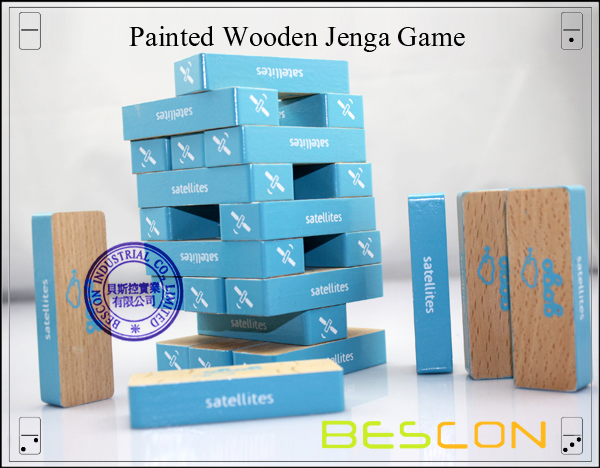 Painted Wooden Jenga Game-2