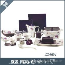 High quality wholesale porcelain latest dinner set with popular design