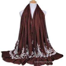 2017 cheap price lace embroidery Muslim women hijab Arabic shemagh scarf