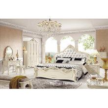 Conjunto de quarto de madeira clássico de alta qualidade (HF-MG008)