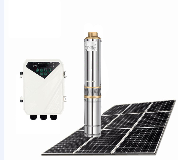 Head 200 Meter Solar Powered Well Submersible Pump 3 Inch Irrigation Water Pump