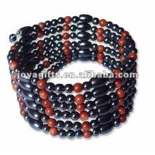 "Pulseira de ouro magnético Beaded Bracelets & Necklace 36 """