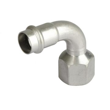 V-Profile Female Thread 90 Elbow Press Fitting