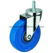 Medium-Sized Biaxial Blue Thread PVC Caster Wheels